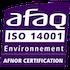 GMM est certifiée ISO 14001 par l'AFNOR