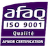 GMM est certifiée ISO 9001 par l'AFNOR
