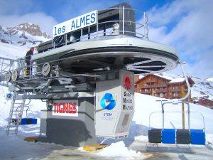 Station motrice tension du télésiège Mi7 à Tignes, Les Almes